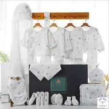 Set combo quà tặng quần áo sơ sinh nhập khẩu cao cấp cho bé 22 món