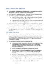 statutory interpretation and ombudsman oxbridge notes statutory interpretation and ombudsman