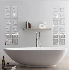 Acrylic Mirror Wall Stickers Geometric Greek Key Pattern Acrylic ...