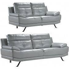 manhattan light grey leather 3 2 seater