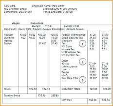 Payroll Check Stub Template Free Paycheck Stub Template Excel Free Pay With Calculator Payroll Check