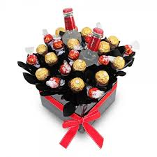 smirnoff ice red vodka chocolate gift basket
