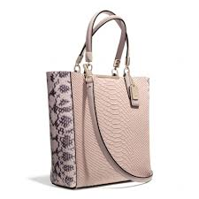 Lyst - Coach Madison Mini Northsouth Bonded Tote in Python Embossed ...