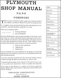 plymouth repair shop manual original