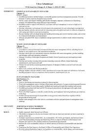 Sustainability Manager Resume Samples | Velvet Jobs