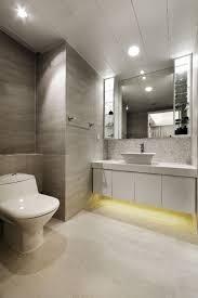 modern bathroom with halogen lighting idea also led lights under the sink vanity