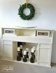 faux fireplace from an mcm headboard