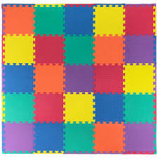 ottomanson multi purpose multi color 12 in x 12 in eva foam