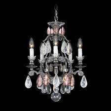 renaissance rock crystal 5 light mini chandelier finish heirloom gold crystal color combination