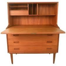 mid century modern børge mogensen style danish teak drop front desk 1