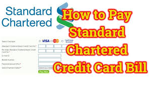 Standard Charted Online Credit Card Payment How To Pay Standard Chartered Credit Card Bill Online Through Other Bank Standard Chartered Bank