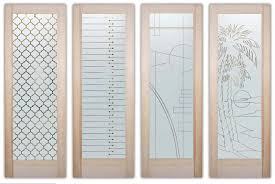 solid frosted glass doors by sans soucie art glass studios in palm desert ca