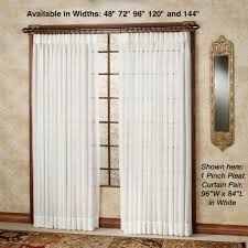 curtain inch long sheer curtain panels curtins curtains with attached valance wide sheer72 valance72 94