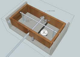 the yoke shaft rotation is transferred to the aileron potmeter via gear wheels the shaft sits in bearings