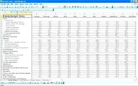 Personal Expense Tracker Excel Monthly Expenses Sample Sheet