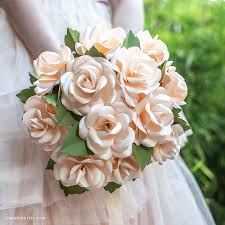 Paper Flower Bouquet For Wedding Video Tutorial Frosted Paper Rose Bridal Bouquet Lia Griffith