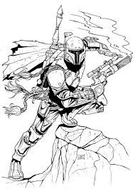 Boba Fett Helmet Coloring Page Get Coloring Pages