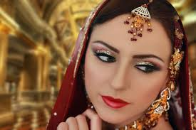 gold and silver glitter makeup indian asian stani traditional brid