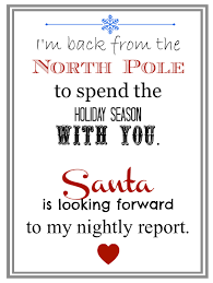 elf returns from north pole letter
