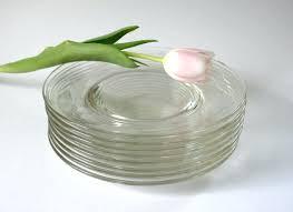 clear glass dessert plates for vintage