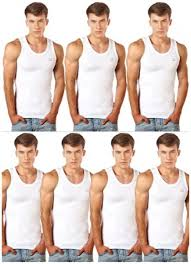 Lux Cozi Mens Cotton Vests Set Of 7