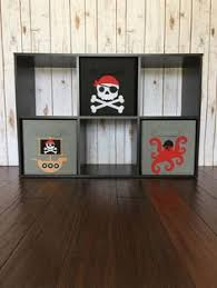 kids pirate storage bin set set of 3 pirate decor pirate nursery decor baby boy decor boys room decor fabric bin kids bedroom decor