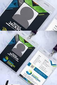 Company Id Badge Template Company Employee Id Badge Corporate Identity Template