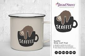 Free svg designs | download free svg files for your own. Sloth Svg Coffee Svg Sloffee Cut File 197748 Cut Files Design Bundles