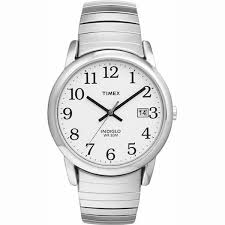 low vision watches timex man s silver tone watch date indiglo light