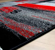 black and red area rugs modern square pattern contemporary designer green grey carpet bedroom rug s plush for living room
