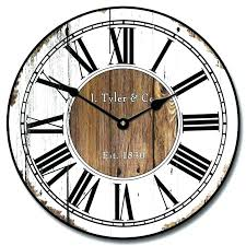rustic wood wall clock rustic wood wall clock antique looking brown and cream dark chaney rustic