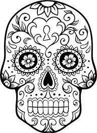 Small Picture Dia de los Muertos Coloring Pages Pinterest Sugar skulls