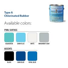 pool paint colorsChlorinated Rubber Type A