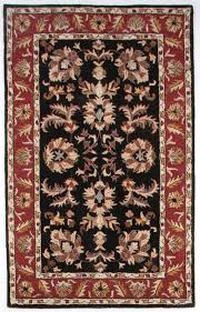 beautiful traditional black burdy gold 5x8 hand tufted wool area rug heritage