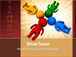 Teamwork Presentations Develop Business Strategy Templates 3d Man With Heads Together