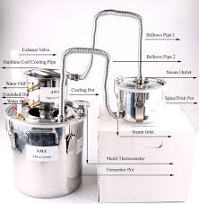 wish diy 3 pots pro home moonshine still wine alcohol essential oil water distiller brewing kit