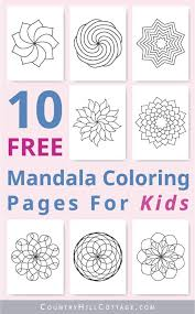 Coloring books for adults are a great way to relieve stress and anxiety. Mandala Coloring Pages For Kids 10 Free Printable Worksheets