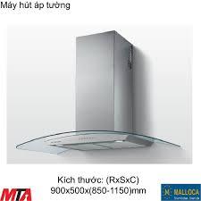 Máy hút mùi Malloca Sigma K820T áp tường màu inox