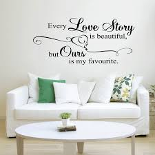 Beautiful Wall Quotes Best of Large Every Love Story Is Beautiful Wall Quote Sticker Art Decal
