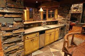 basement bar stone. Rustic Basement Bar Plans Designs With Sink One Wall Wine Refrigerator  Ledge Stone Outdoor . T