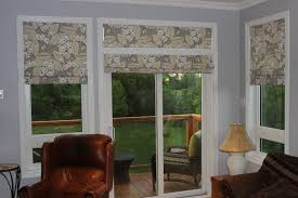 roman shade with fl for patio french door