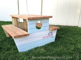 nautical picnic table for bigger kids