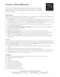 create a good resume