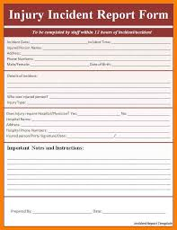 Incident Report Template Accident Form 354856585076 Free Incident