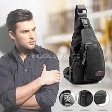 Jual tas selempang pria kanvas/sling bag cowok/tas pria CK160712 - Hitam -  Kota Surabaya - ranselku | Tokopedia