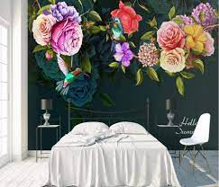 Murals Wallpaper 3D Effect Vintage Rose ...