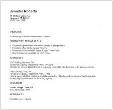 Temp Job On Resume Resume Temporary Jobs Resume Temp Resume
