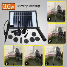Solar Water Pump Kit With Led Lights Solar Fountain Water Pump Kit With Battery Backup And Led Lights Solar Power Panel Upgraded Submersible Sprayer Pumps 9v 3 6w 260l H