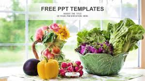 Free Food Powerpoint Templates Watercolor Illustration With Vegetables Powerpoint Templates