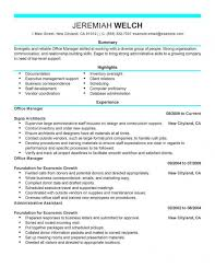 Best Office Manager Resume Example Livecareer With Resume Sample